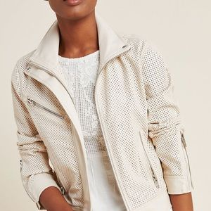 Blank NYC Faux Leather Perforated Moto Jacket LG
